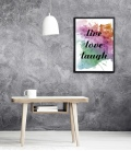 lamina live, love, laugh. - DecoraVinilos adhesivos