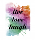 lamina live, love, laugh. DecoraVinilos adhesivos