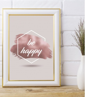 lamina be happy - DecoraVinilos