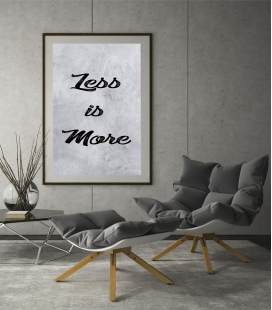 lamina less is more - DecoraVinilos