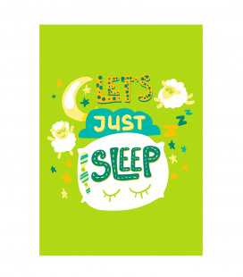 Lamina Let's sleep Azul -Decoravinilos-