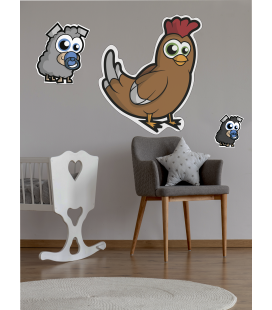 Gallina ilustrada -Decoravinilos-