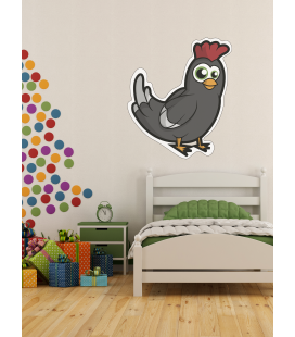 Gallina negra bebe -Decoravinilos-