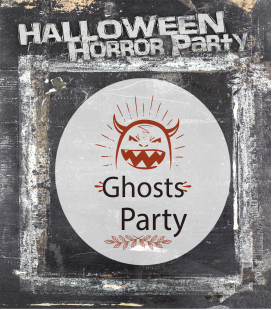 Ghost party - Decoravinilos