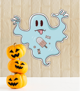 Ghost Halloween - Decoravinilos
