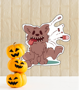 Wolf Halloween - Decoravinilos