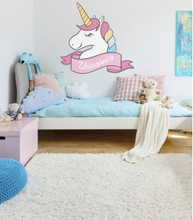 Unicornio Vinilo Pared - Decoravinilos