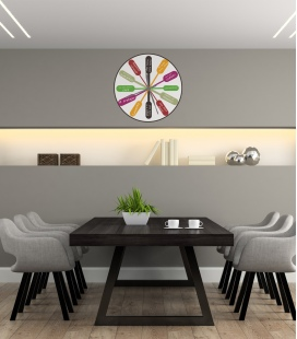Reloj work -Decoravinilos-