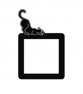 Gato acostado enchufe interruptor - Decoravinilos