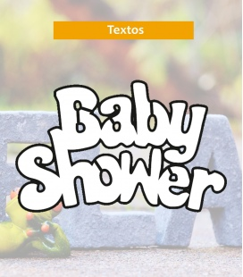 Baby shower - Textos de corcho - Decoravinilos