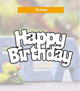 Happy birthday - Textos de Corcho - Decoravinilos