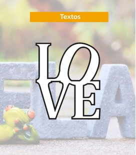Love - Textos de Corcho - Decoravinilos