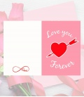 Tarjeta Love You - Decoravinilos