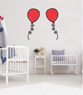 Pegatina Globos pared - Decoravinilos
