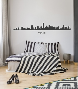 Miami silueta -Decoravinilos-