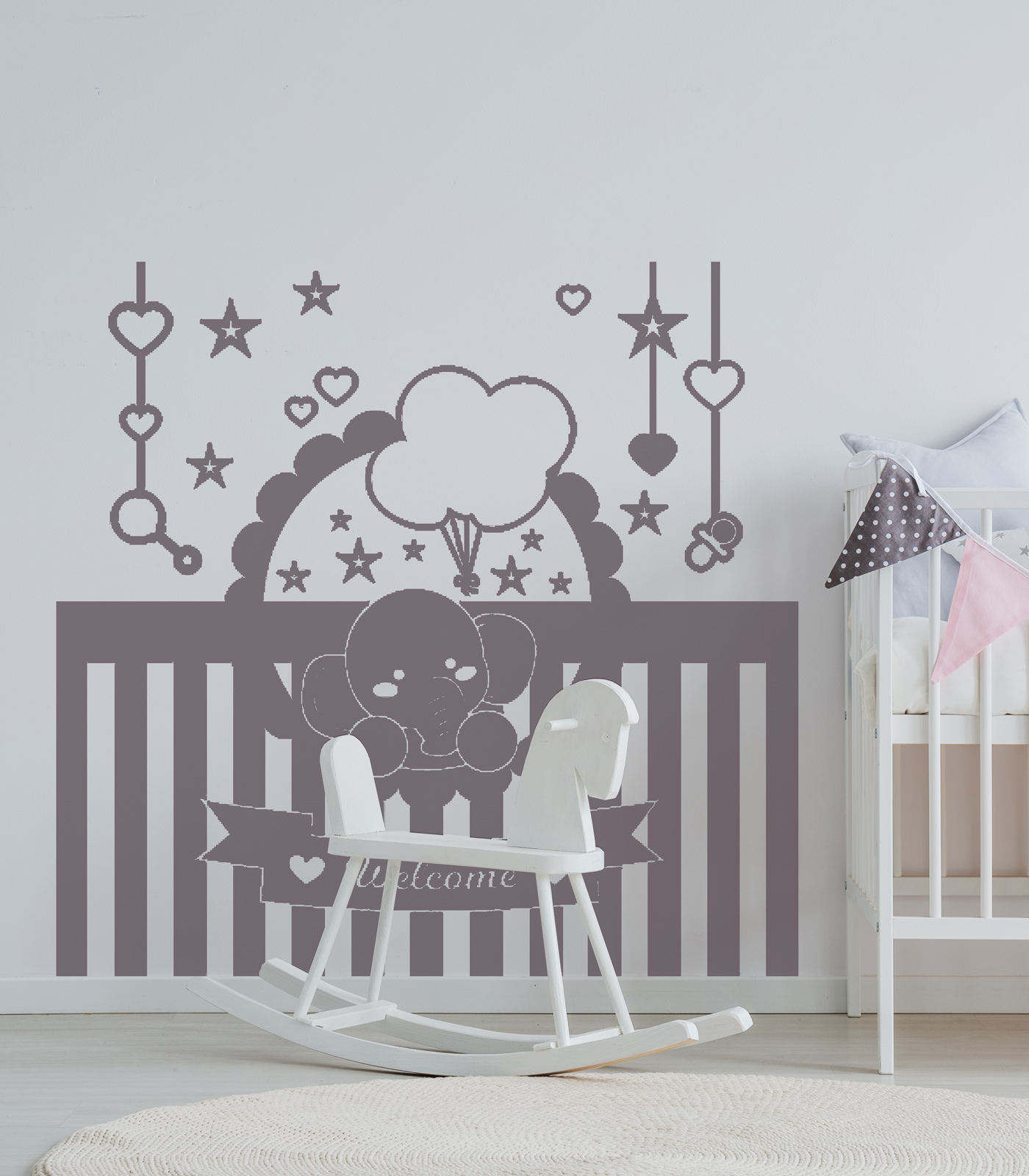 Welcome Baby-decoravinilos
